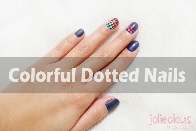 Colorful Dotted Nails