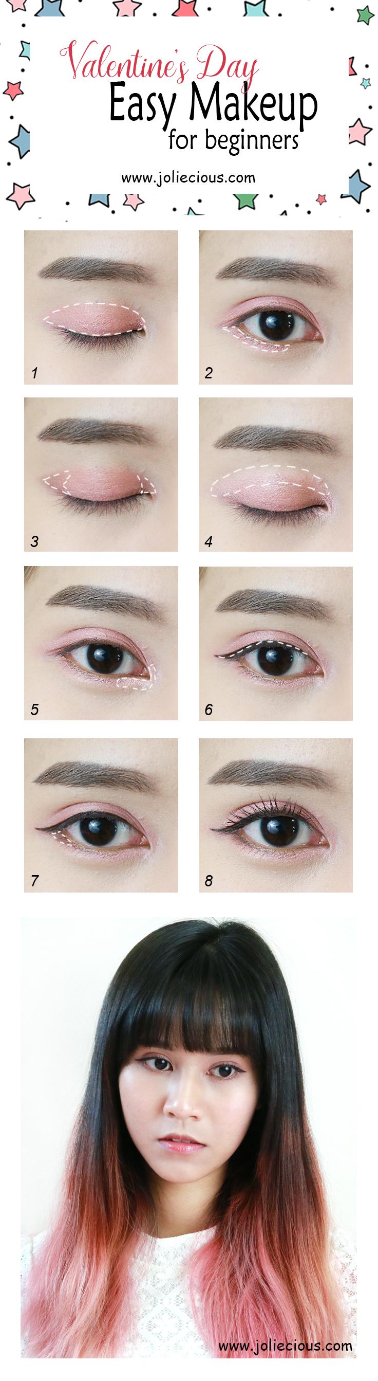 Valentine makeup tutorial