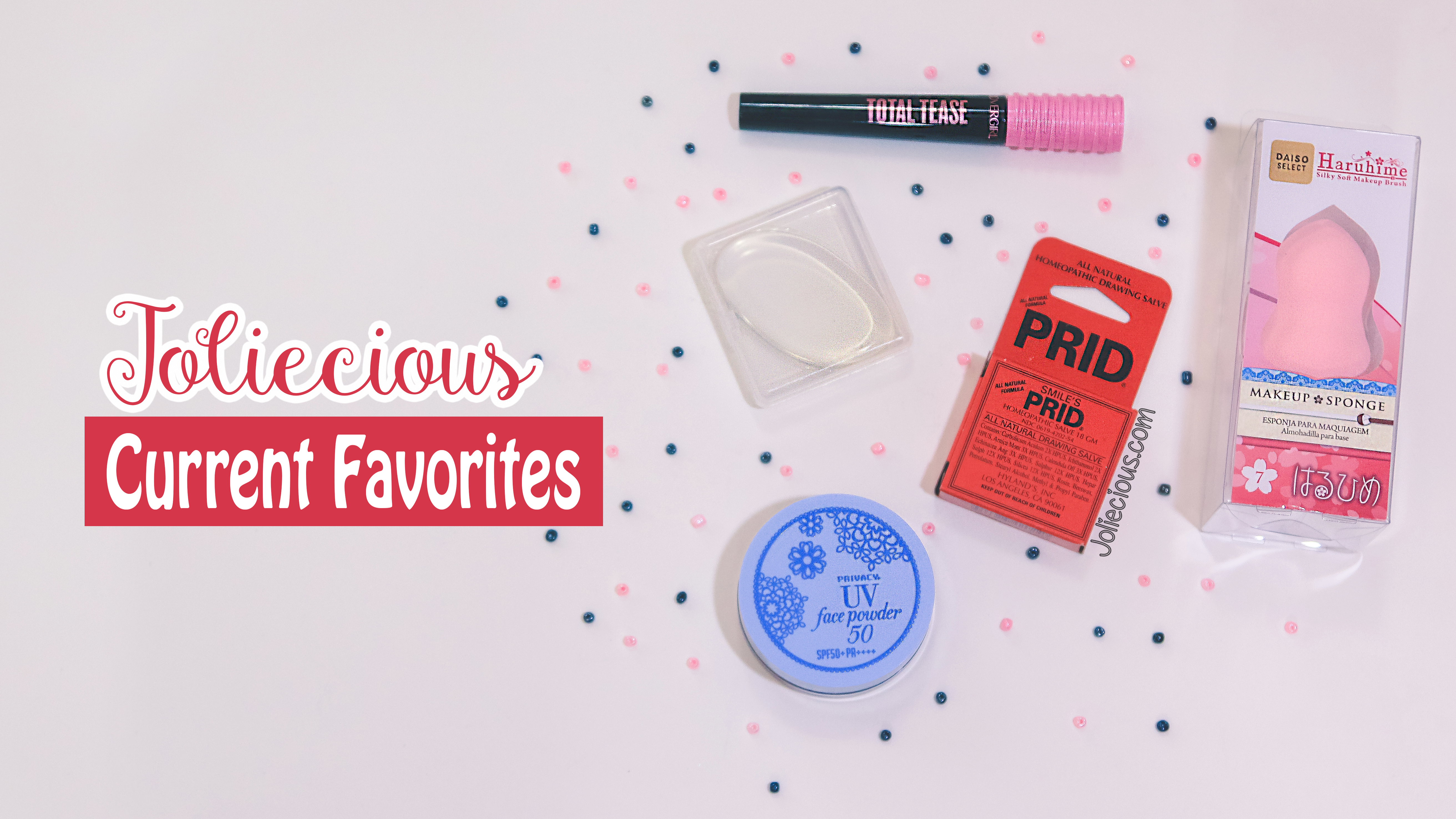 Current Favorites: Smile's PRID Drawing Salve, SPF Powder & Beauty Sponges
