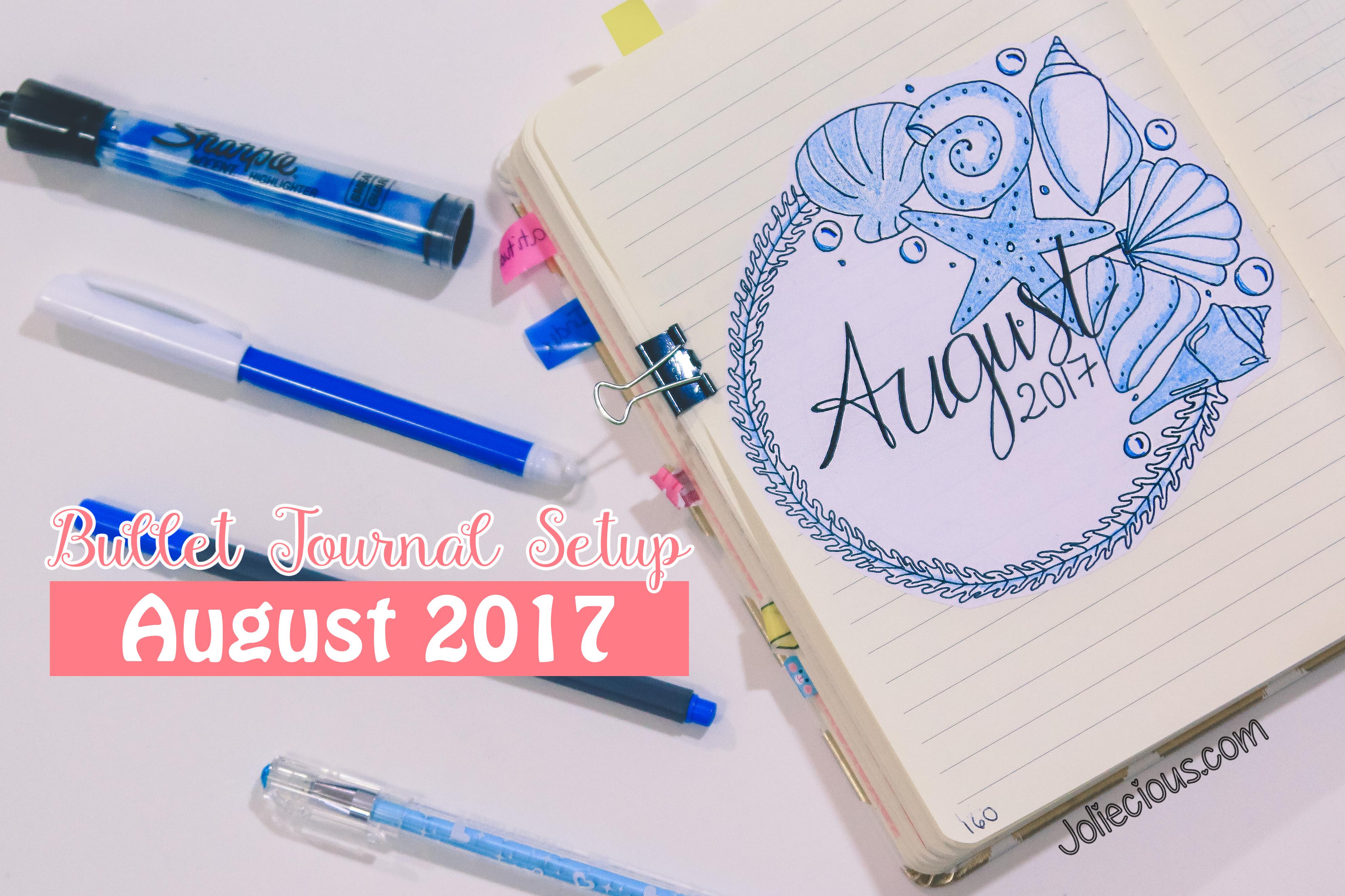 bullet journal setup august 2017