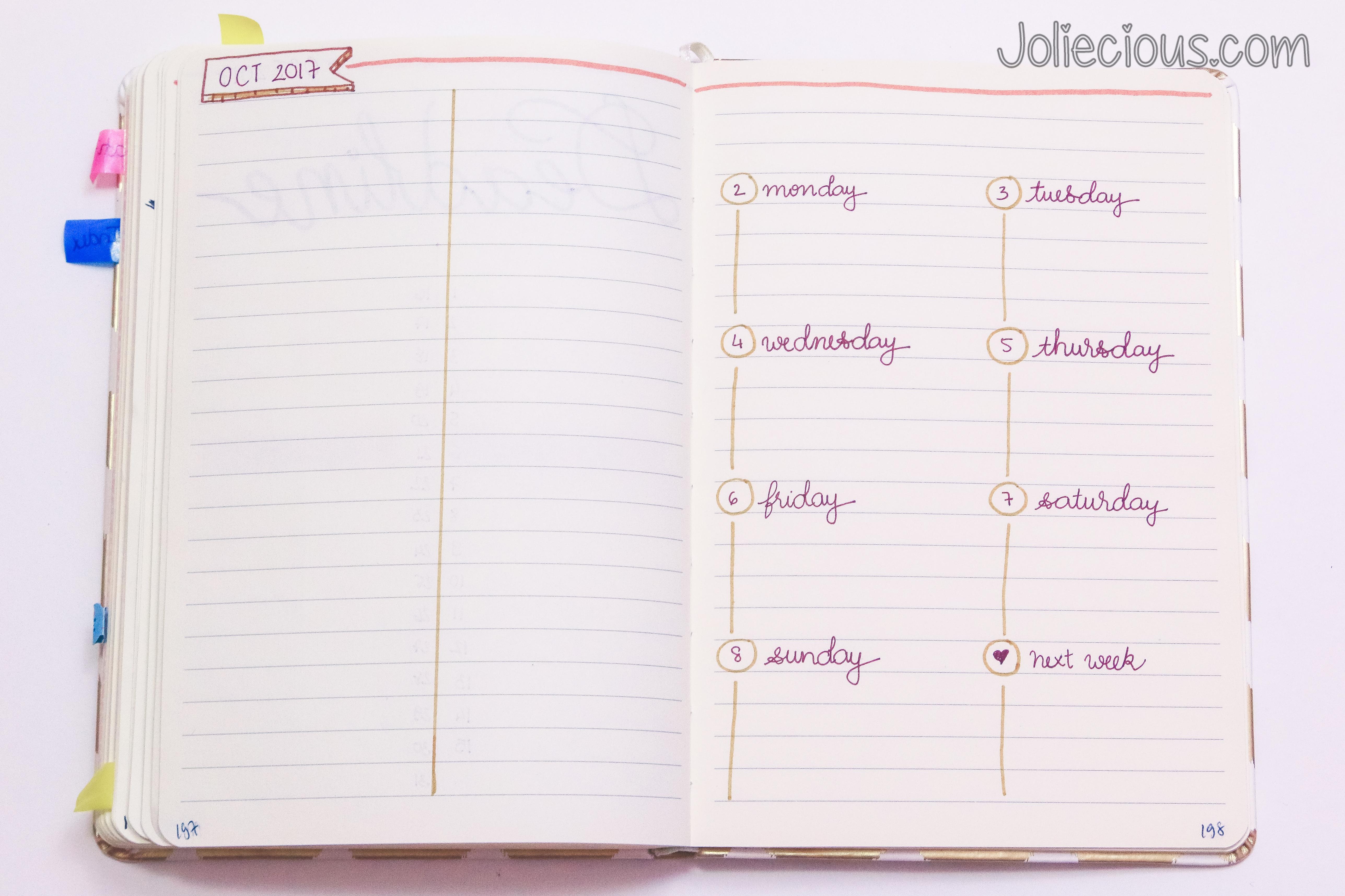Bullet Journal Setup. Monthly Bullet Journal Setup