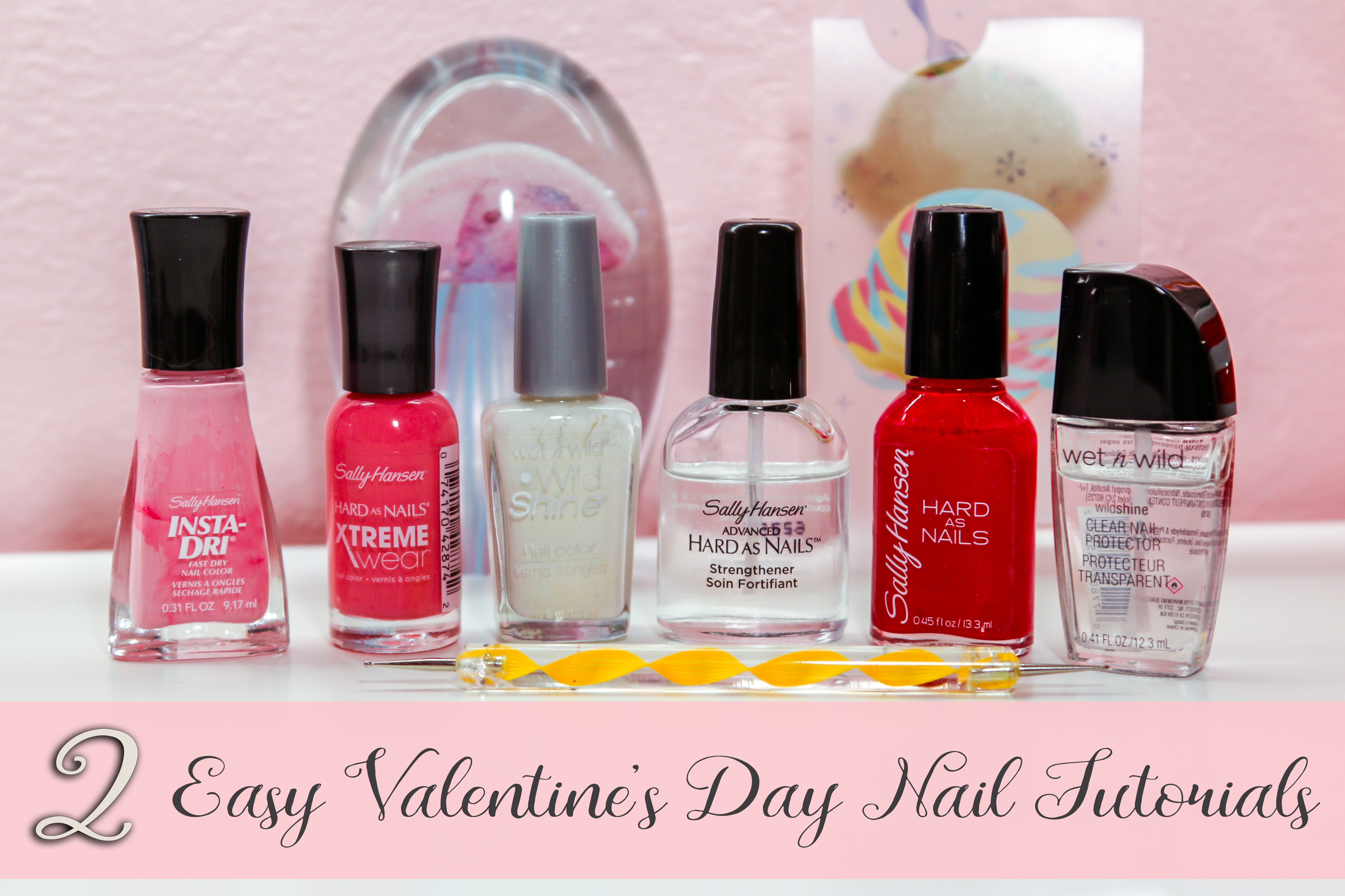 Two Easy Valentine's Day Nail Tutorials