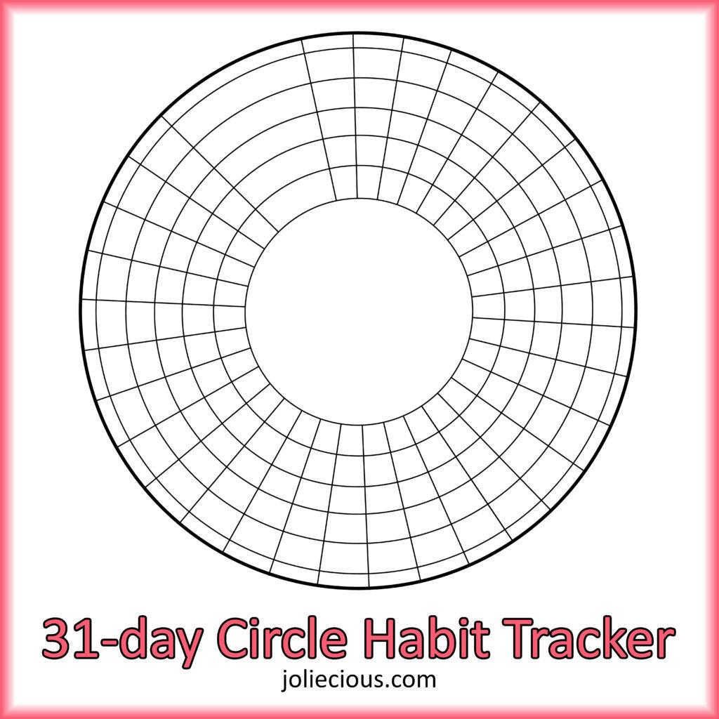 free bullet journal printables 31-day circle habit tracker