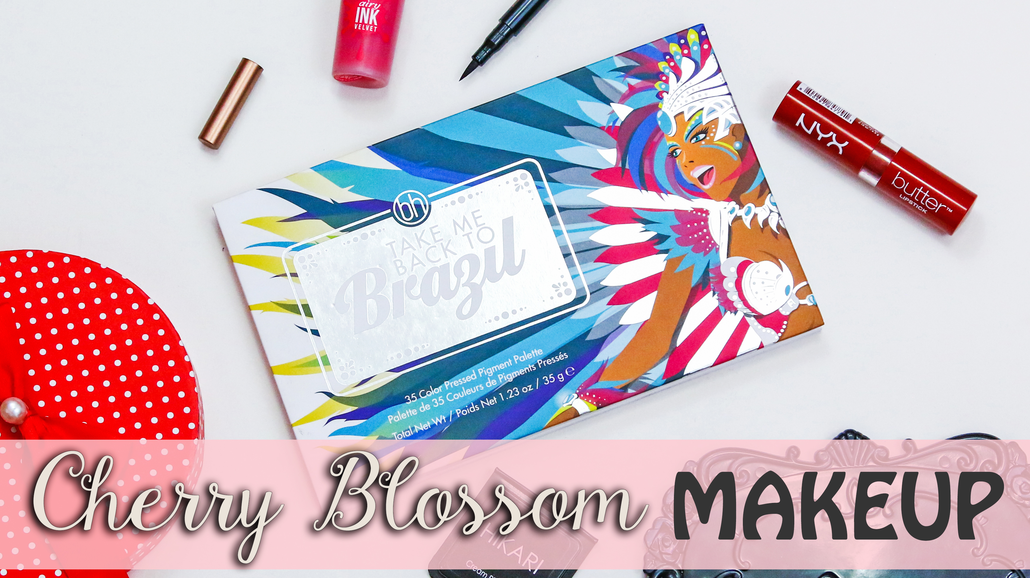 Spring Makeup Cherry Blossom Makeup Tutorial   BH Cosmetics Take Me Back to Brazil Palette