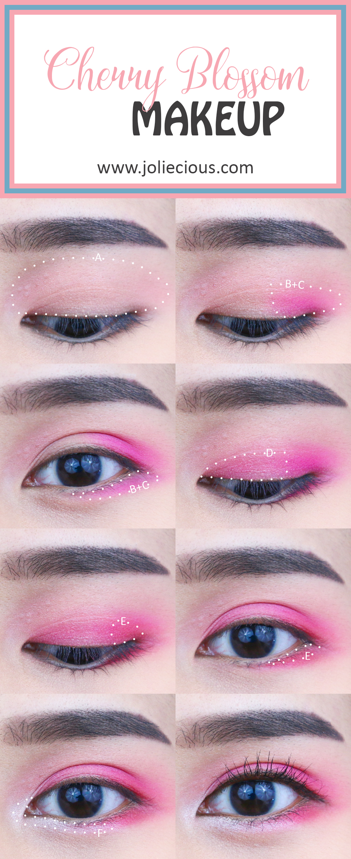 Cherry Blossom Makeup Tutorial   BH Cosmetics Take Me Back to Brazil Palette