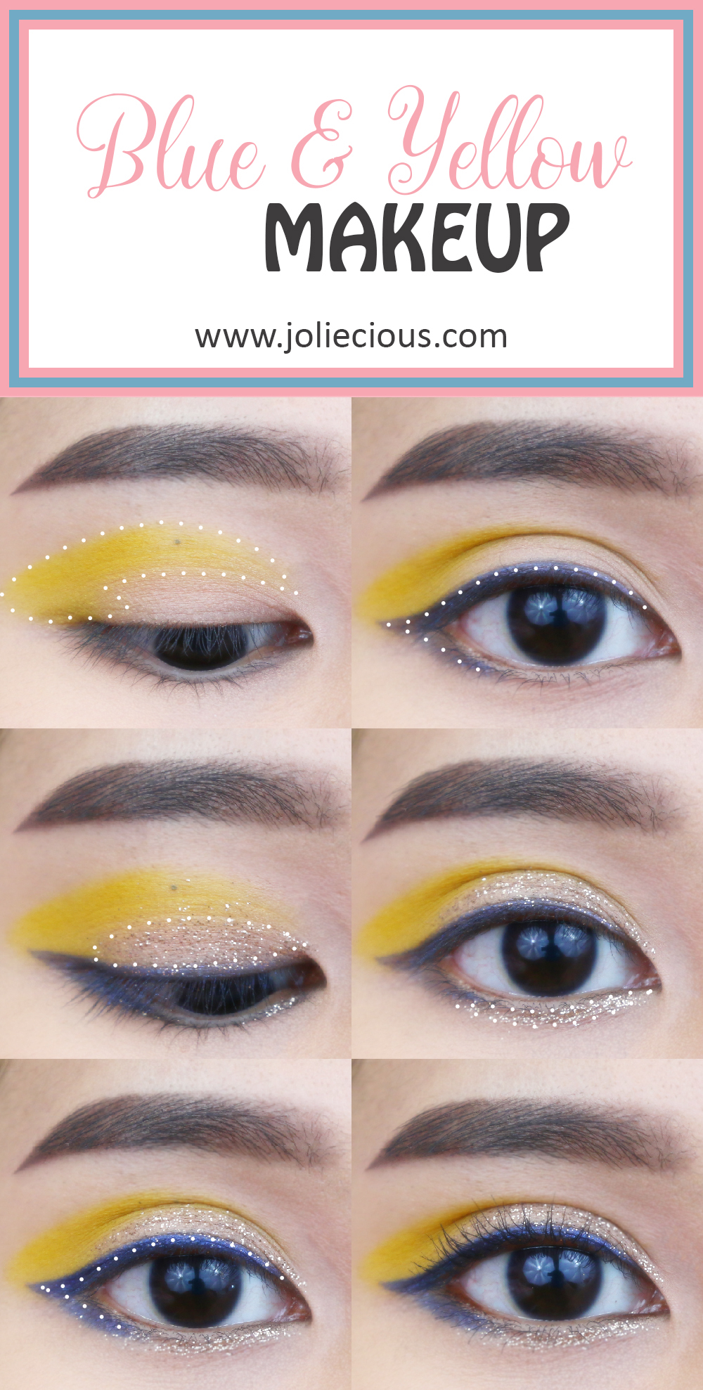 Bold color makeup tutorial   Blue and yellow makeup   Easy makeup tutorial for beginner   BH Cosmetics Take Me Back to Brazil palette