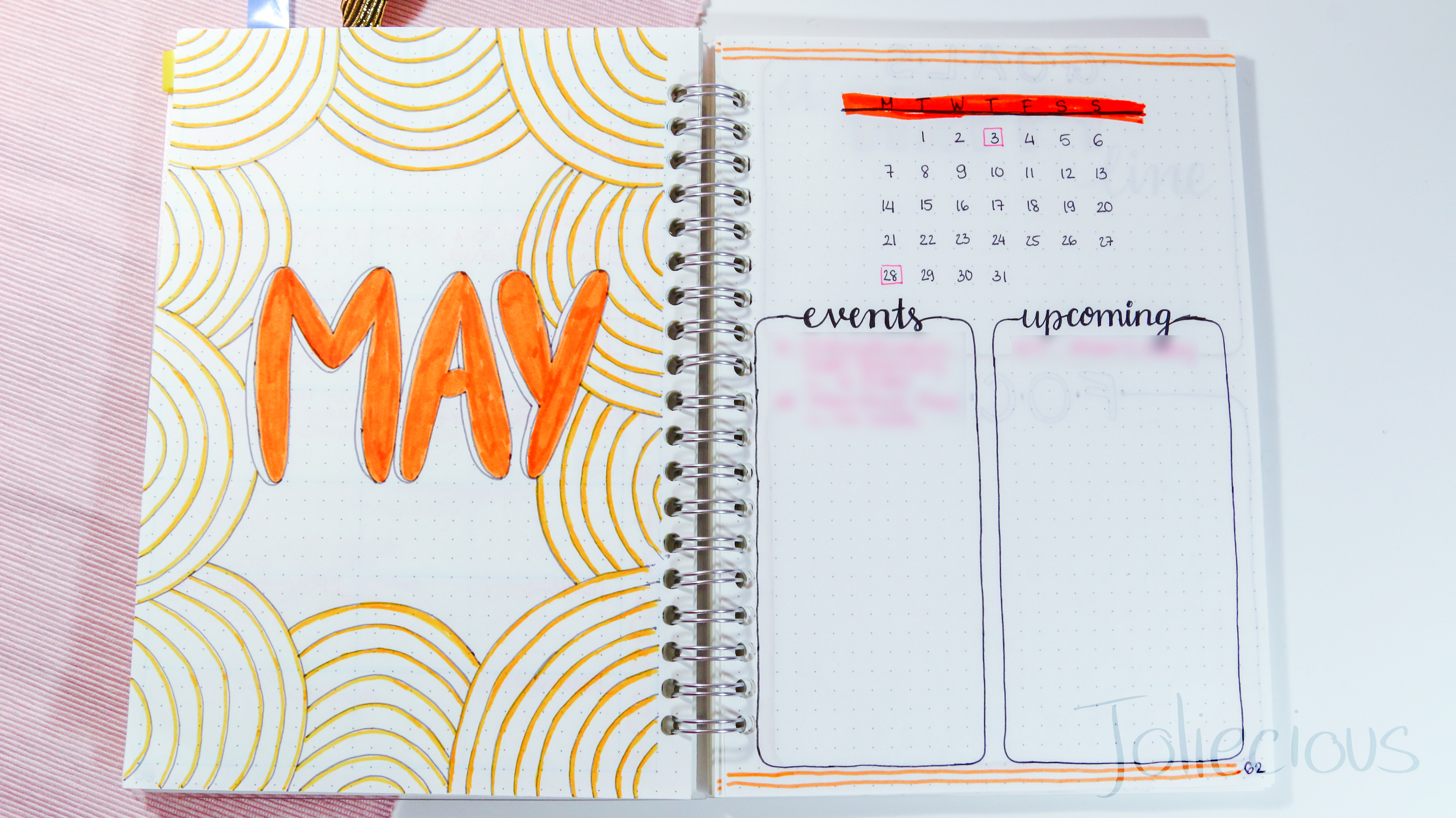 Plan with me May 2018 Bullet Journal Setup