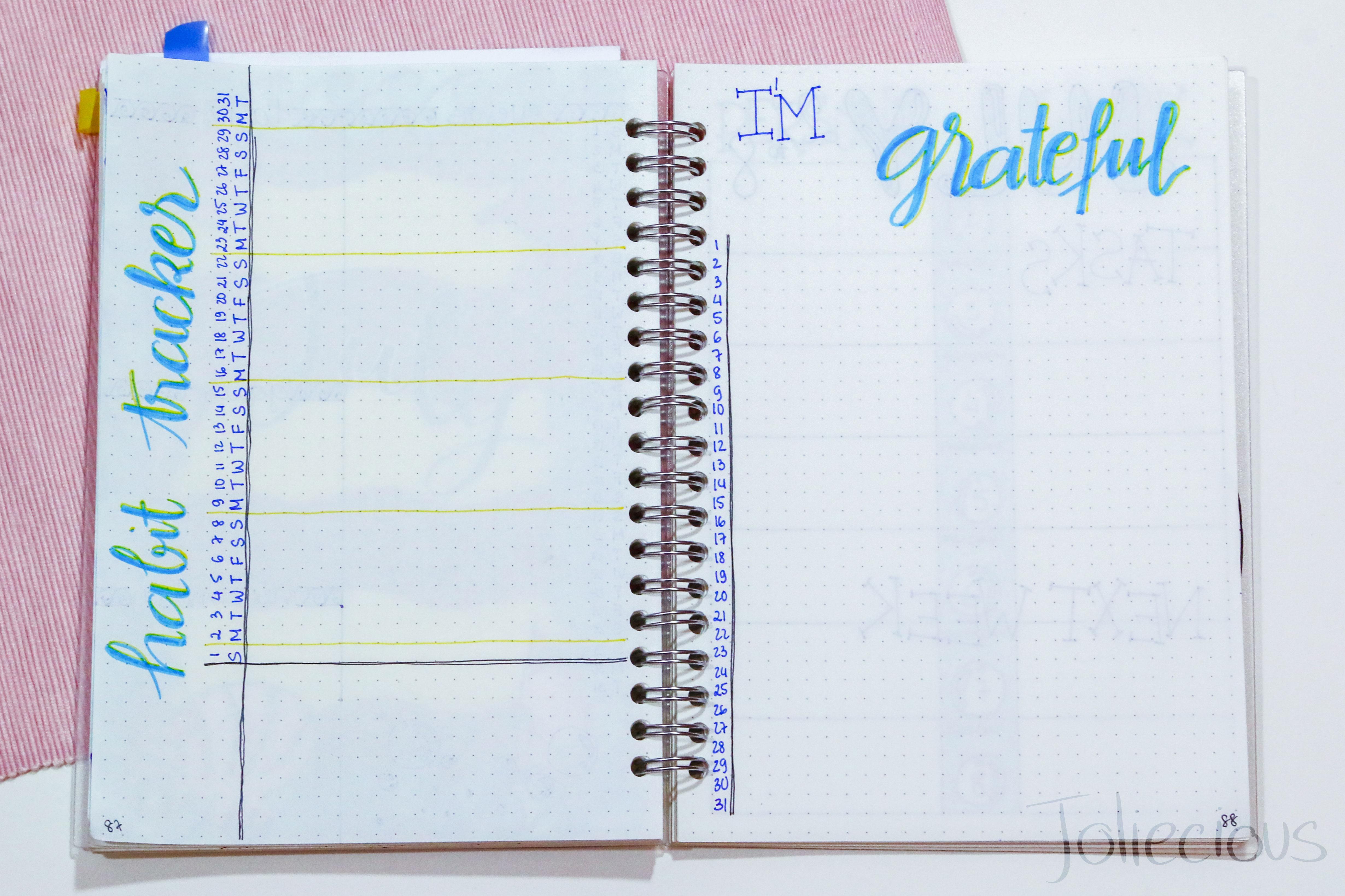 july 2018 bullet journal setup plan with me