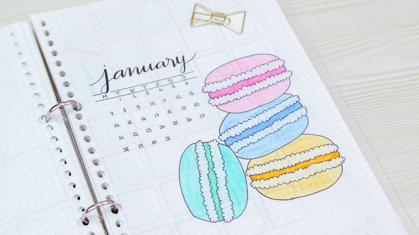 January Cover Page & Theme to Inspire Your Bullet Journal Setup
