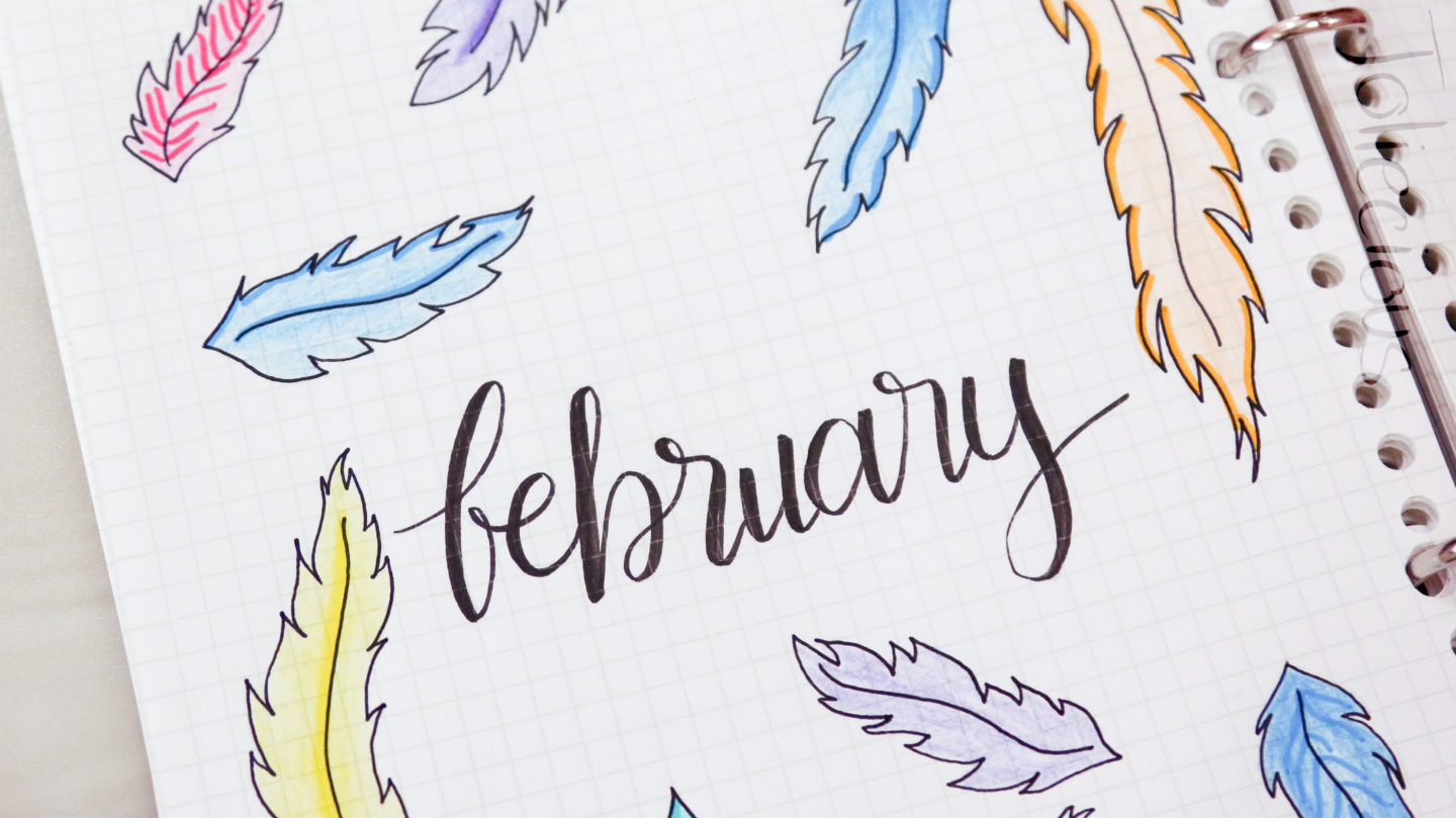 Beautiful February Bullet Journal Theme & Cover Page Ideas You Must Try