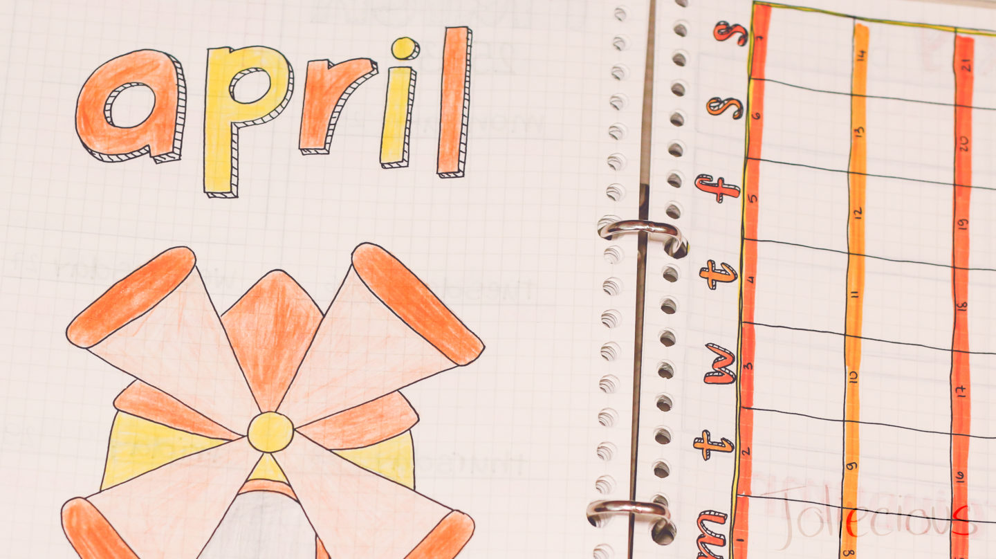 April Bullet Journal Setup: Windmill Theme (with Video)