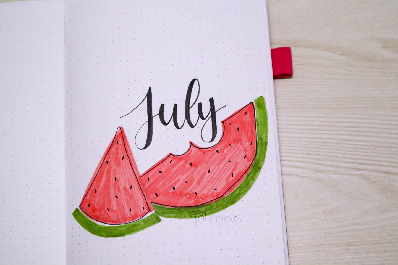 July 2019 Bullet Journal Setup