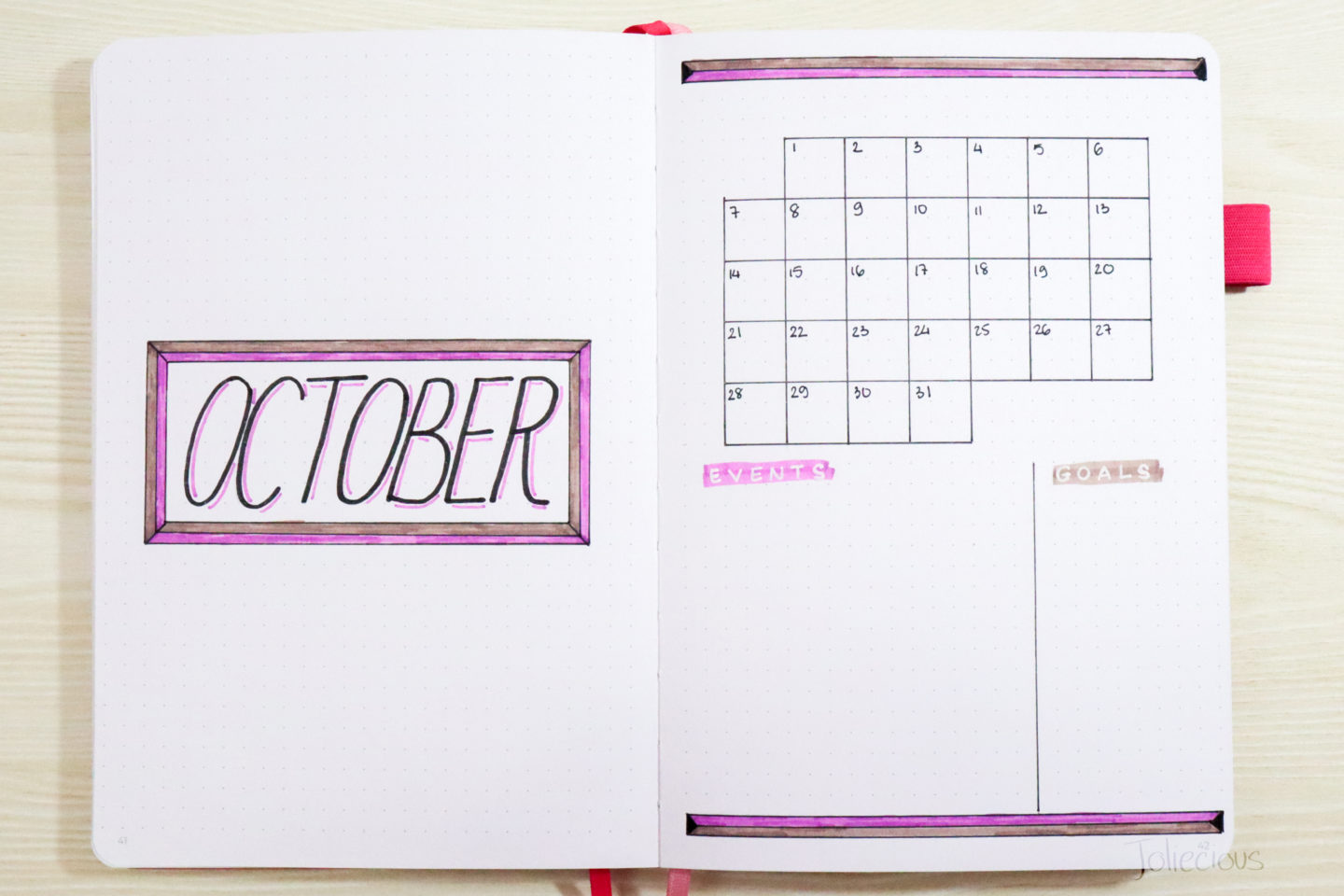 October Bullet Journal Theme & Cover Page Ideas