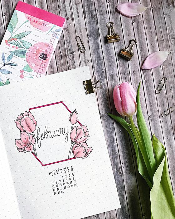 february bullet journal themes