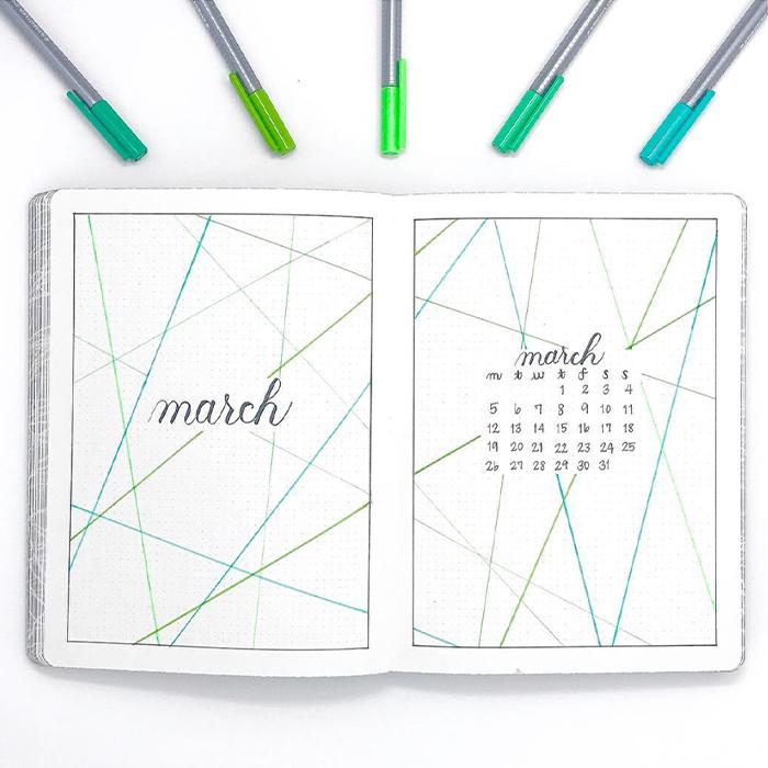 march bullet journal ideas