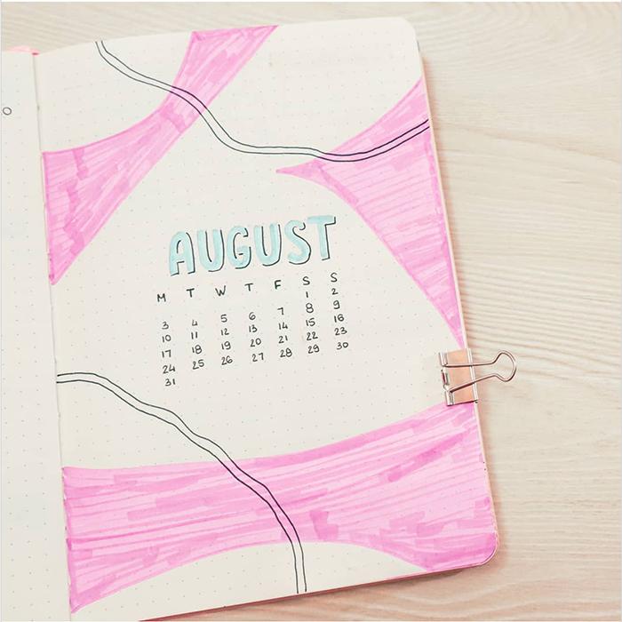 august bullet journal ideas