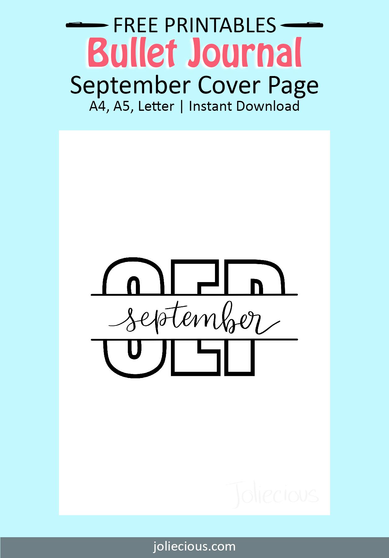 september bullet journal theme idea