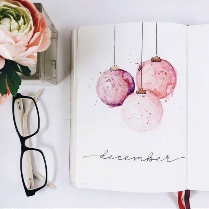 december bullet journal themes
