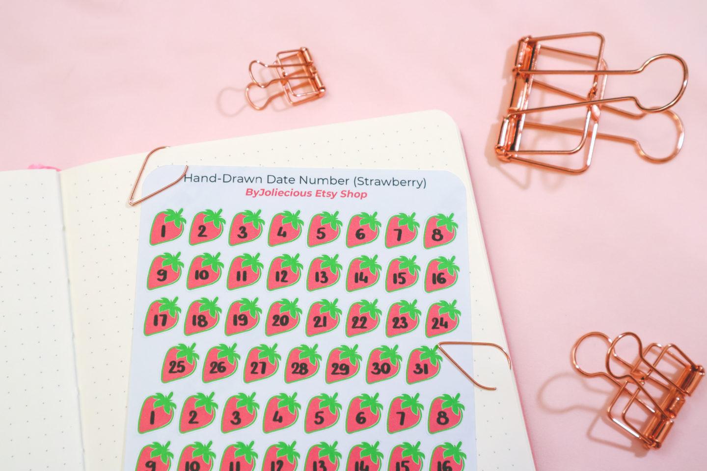 bullet journal stocking stuffers - stickers