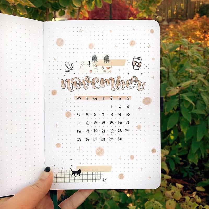 november bullet journal themes